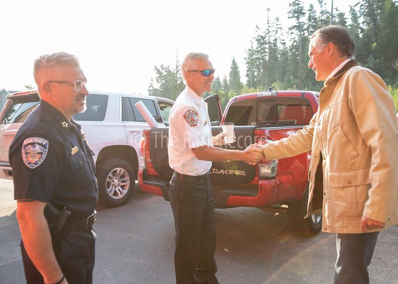 Mitt Romney visits Parleys Canyon Fire Burn – The Park Record
